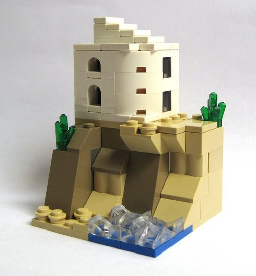 lego minecraft micro world village instructions