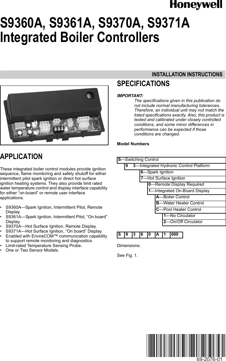 honeywell temperature controller instructions