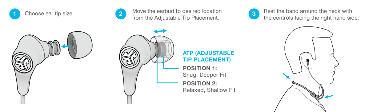 jlab wireless earbuds instructions
