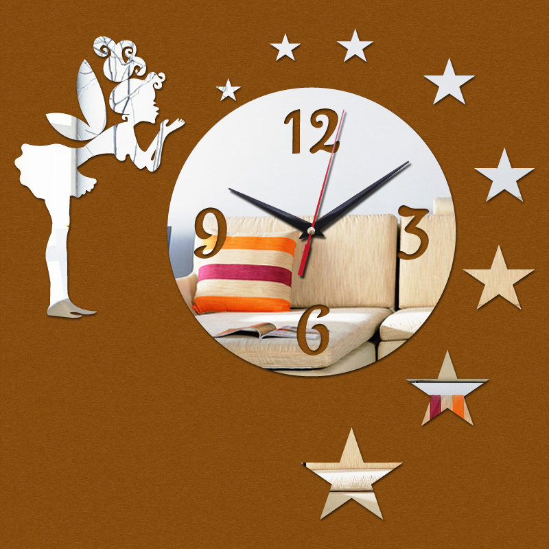 decorative mirror wall clock instructions