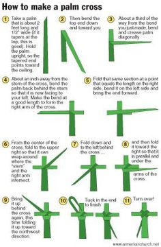 instructions on how to make a palm cross