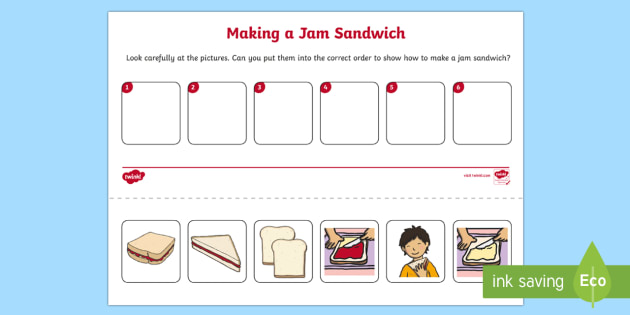 writing instructions for making a sandwich