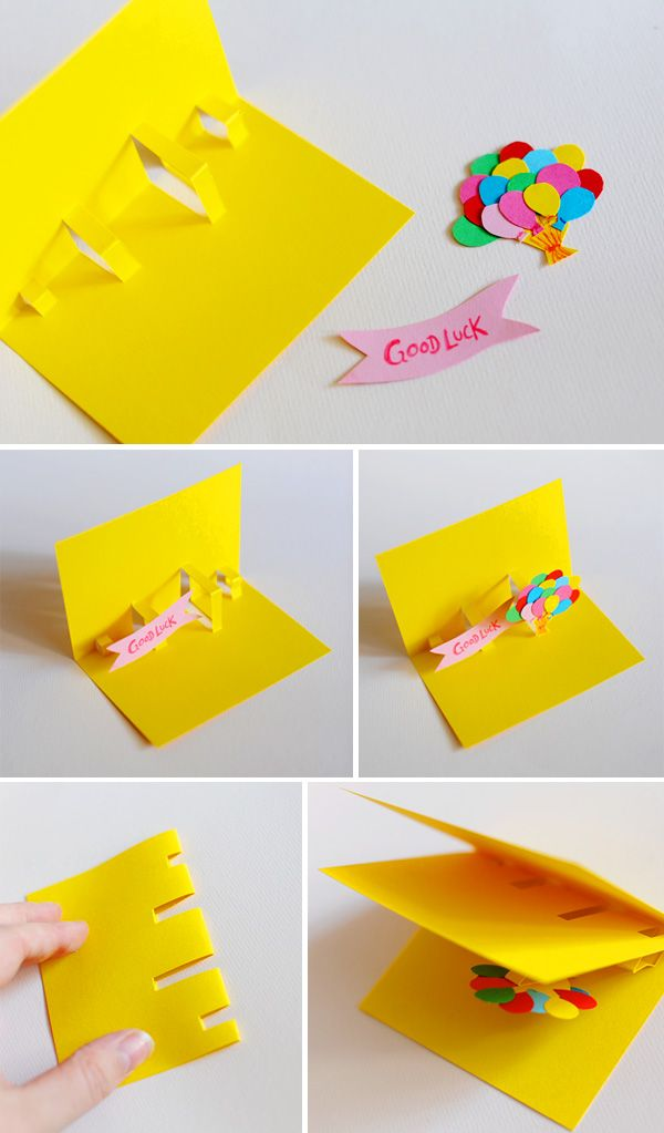homemade pop up cards instructions