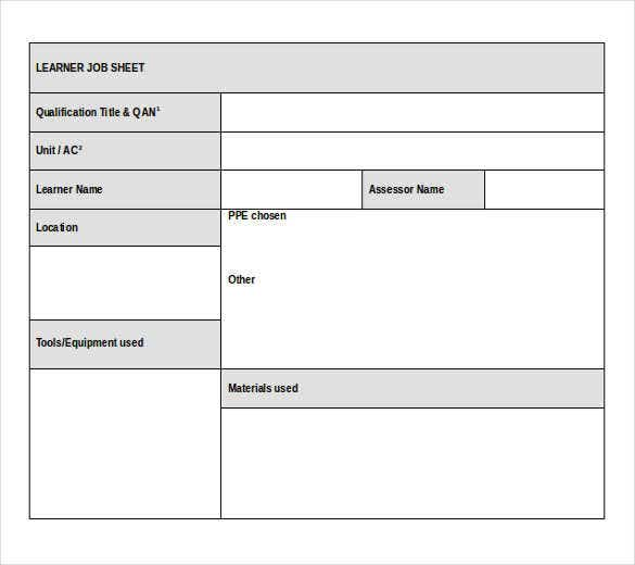 work instruction template excel free