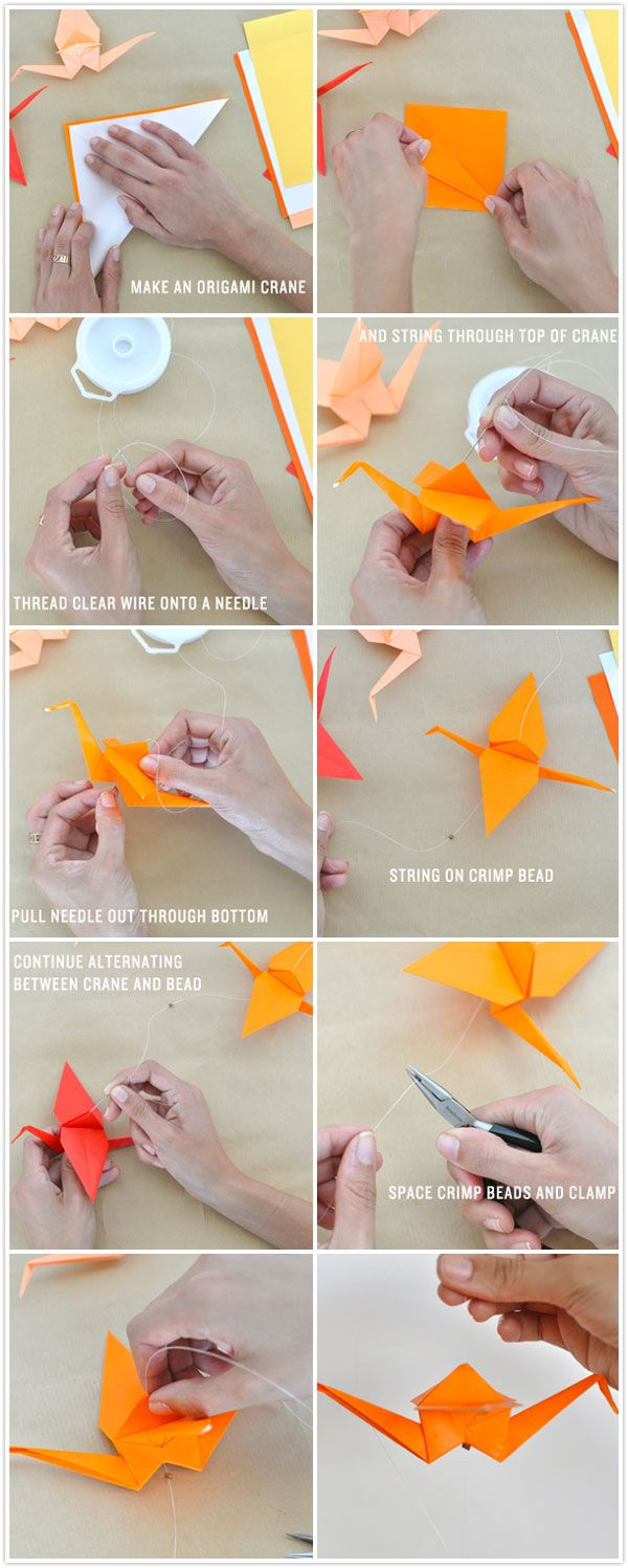 instructions for making a paper crane