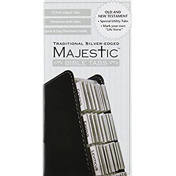 majestic bible tabs instructions