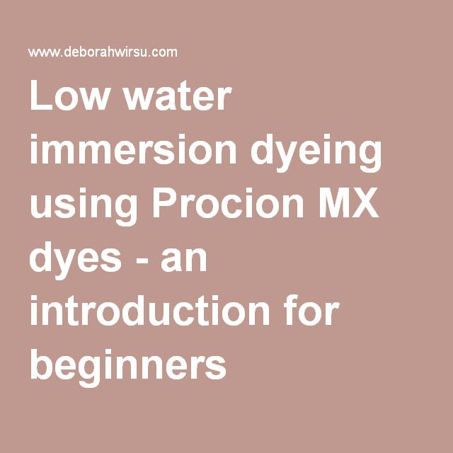 procion mx dye instructions