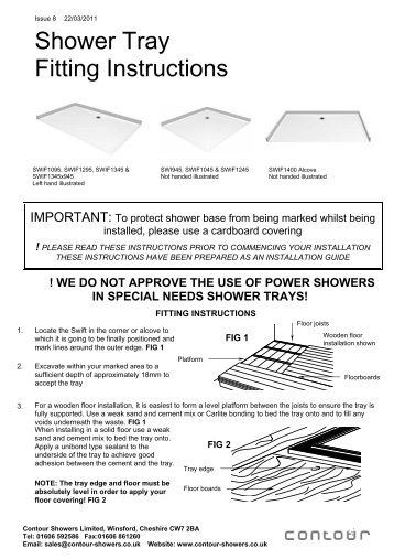 bette shower tray installation instructions