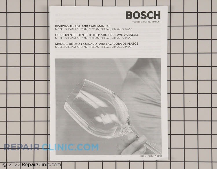 bosch dishwasher instruction manual
