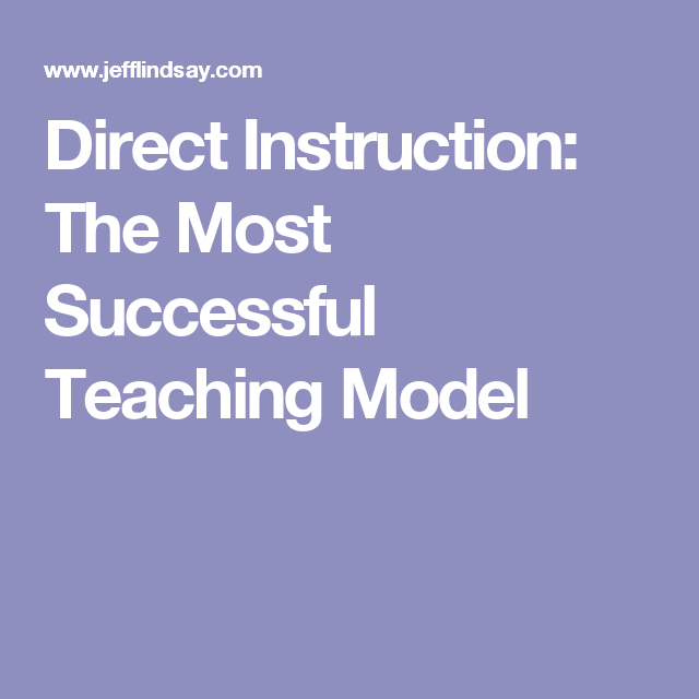 direct instruction model of teaching