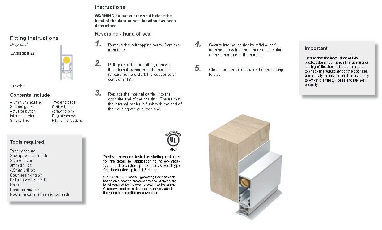raven door seal installation instructions