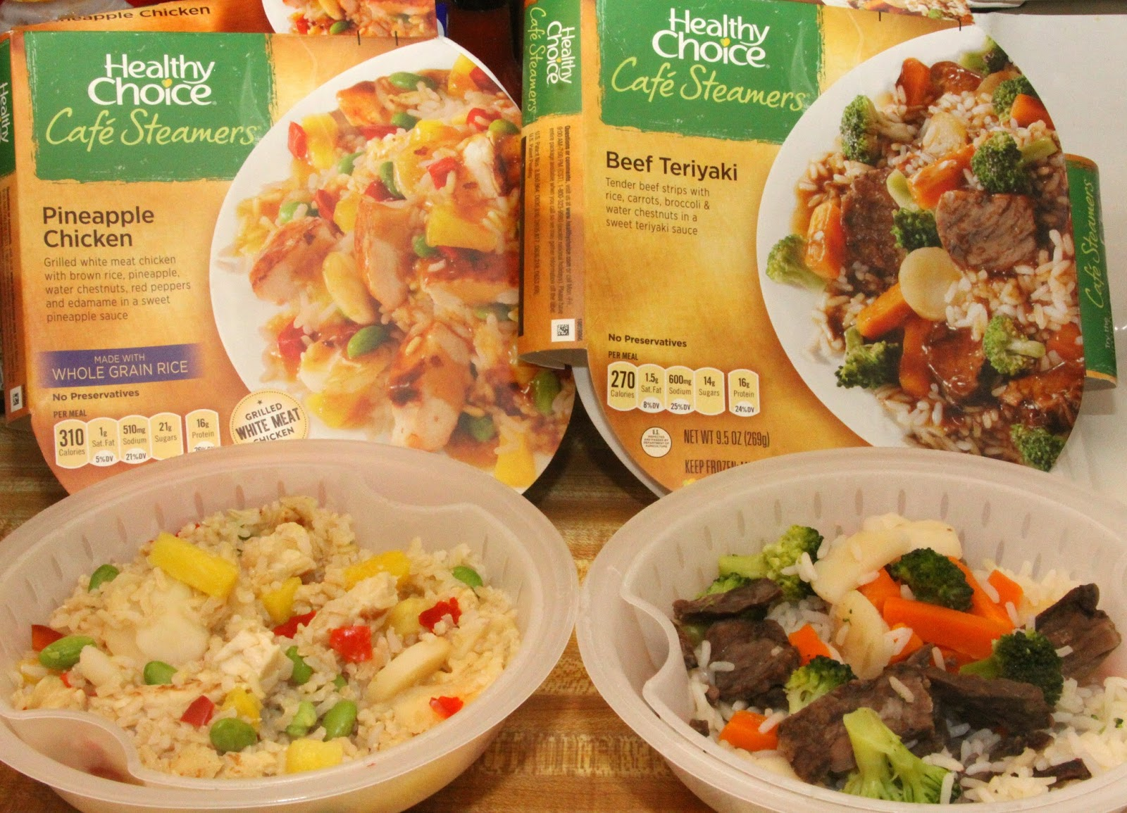 healthy choice cafe steamers cooking instructions