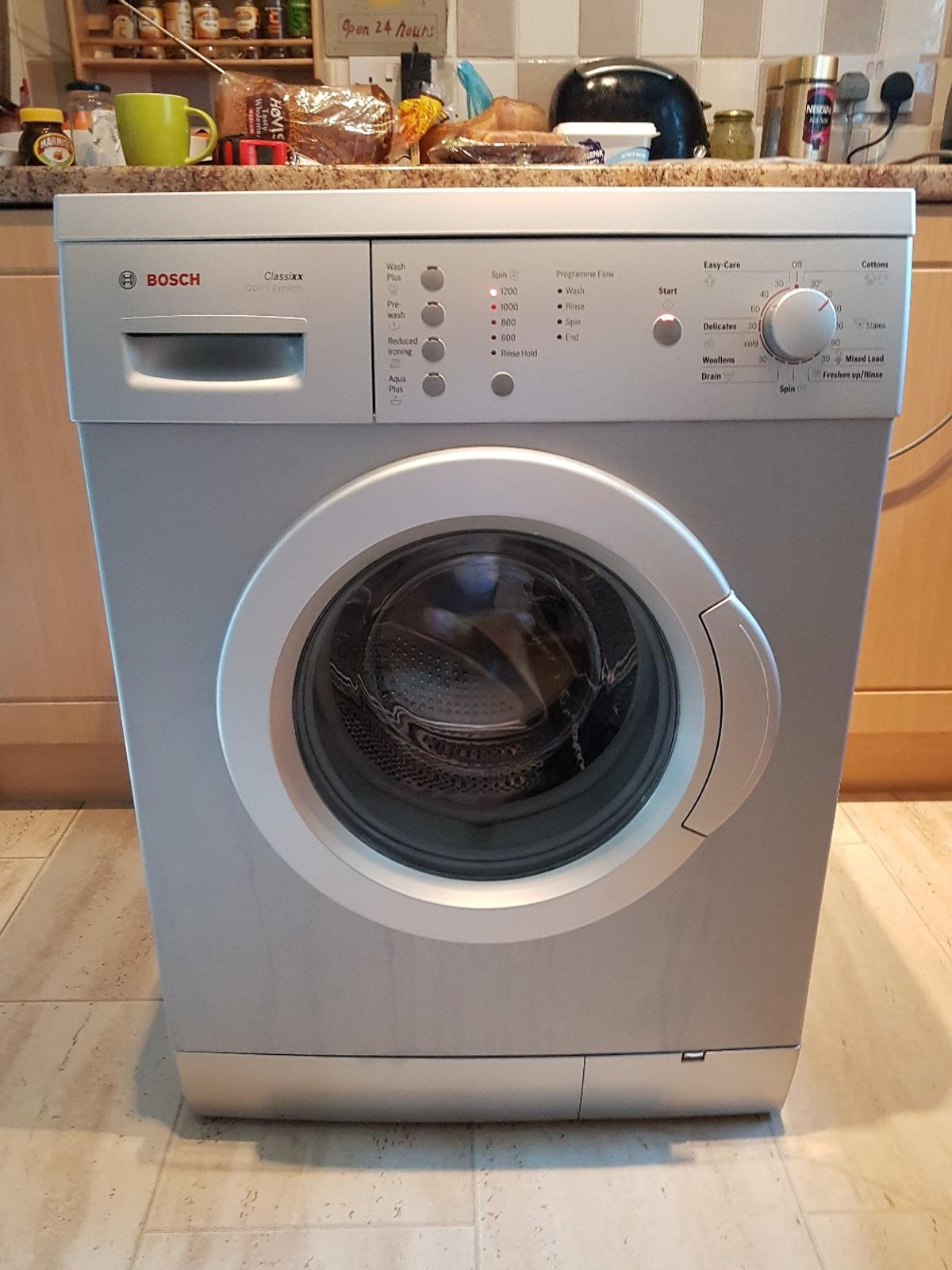 bosch washing machine drum clean instructions