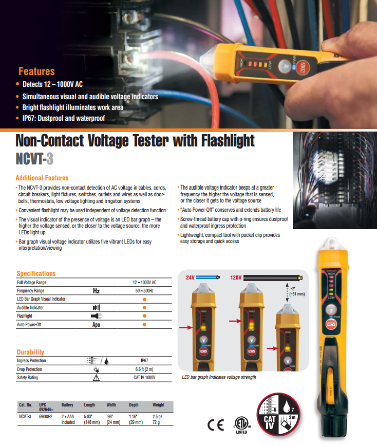 klein tools voltage tester instructions