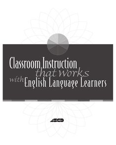 classroom instruction that works with english language learners pdf