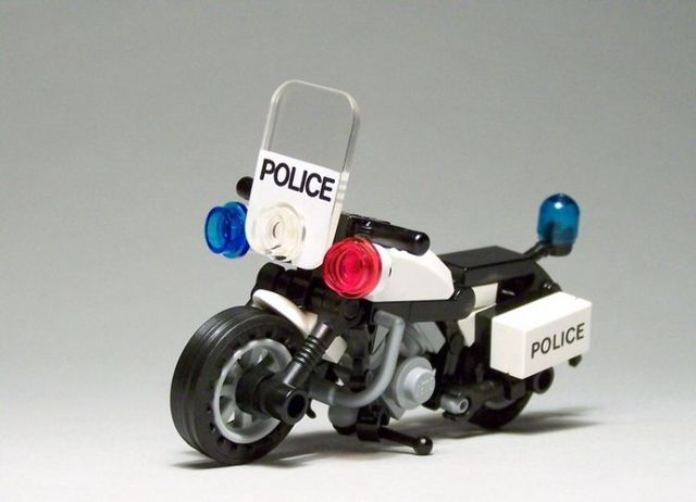 lego police bike instructions