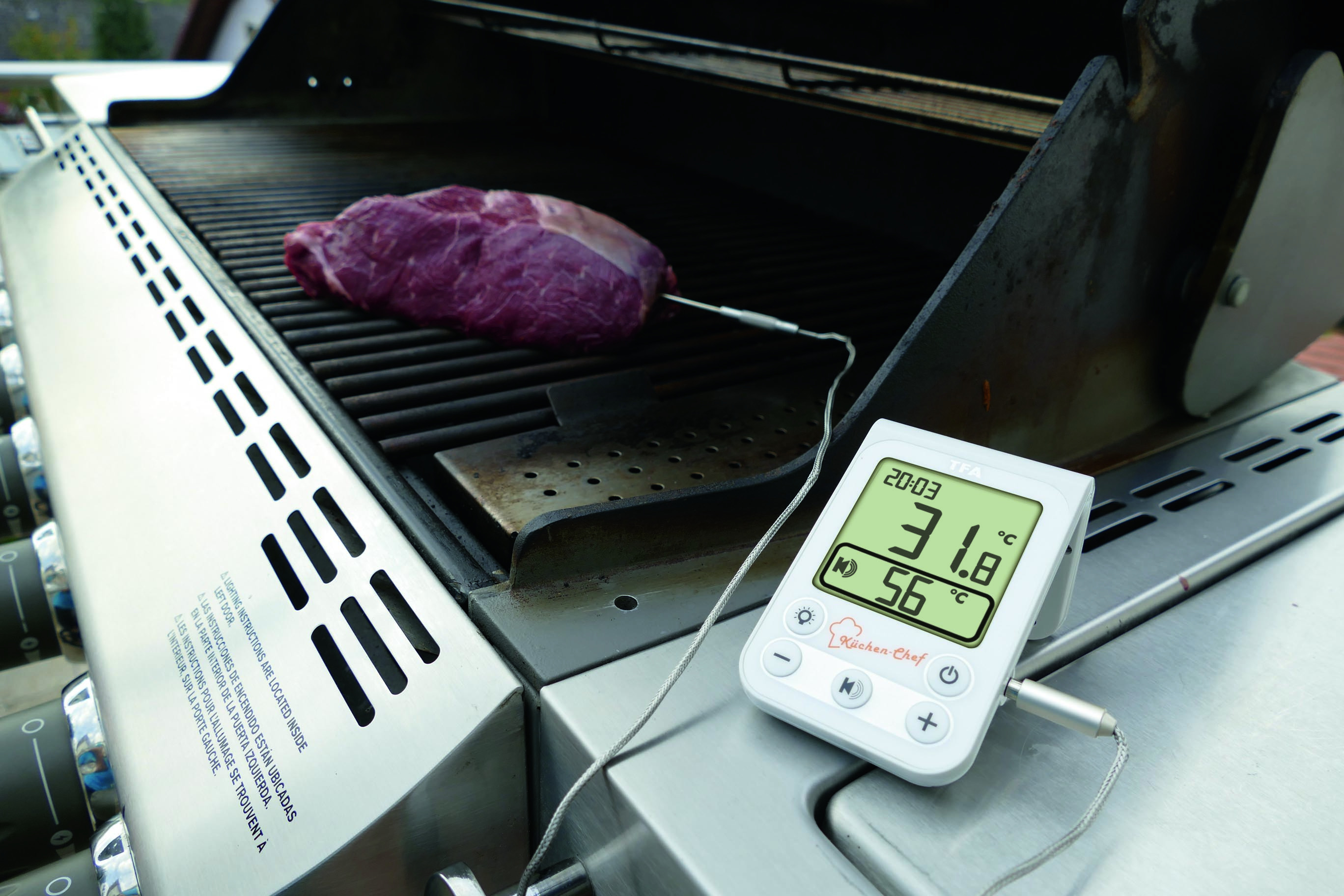hanson digital meat thermometer instructions