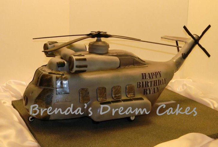 helicopter birthday cake instructions