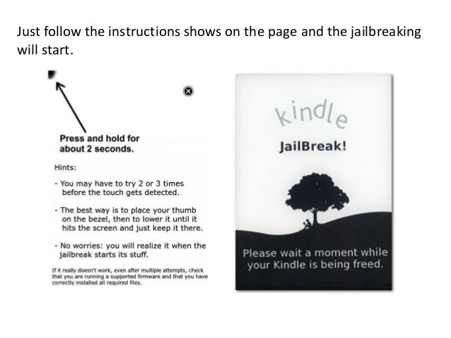kindle white screen instructions