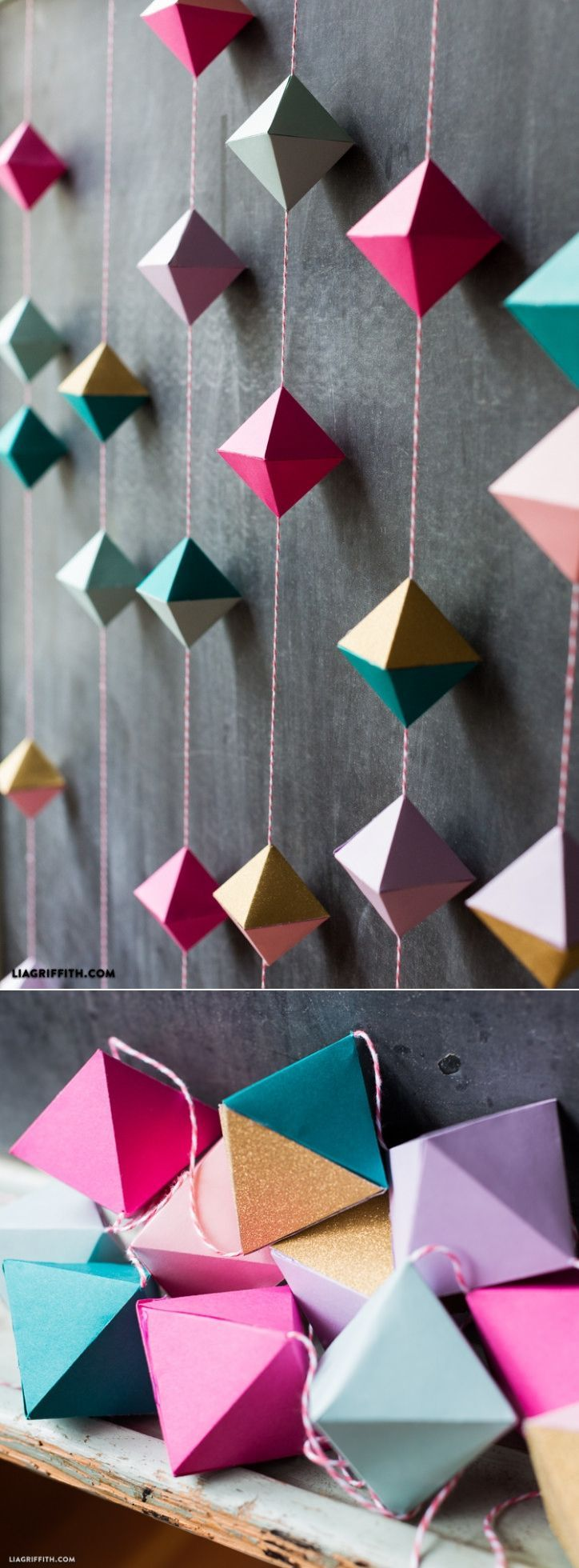 origami hanging decorations instructions