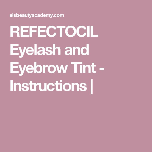 refectocil blonde brow instructions